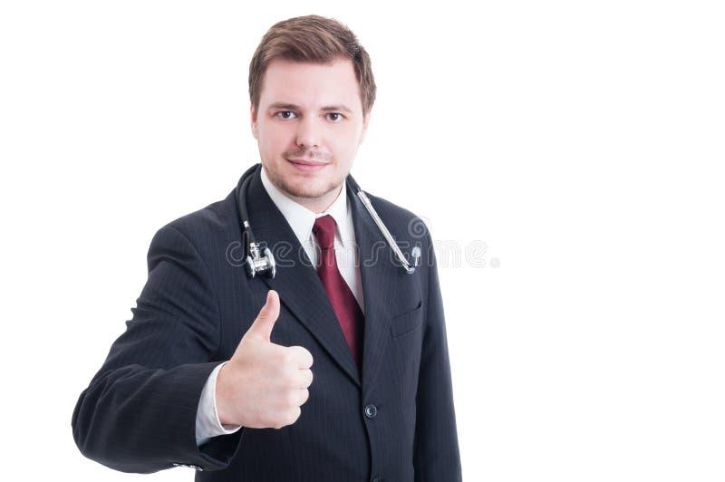 Médecin ou docteur personnel montrant comme le geste images stock
