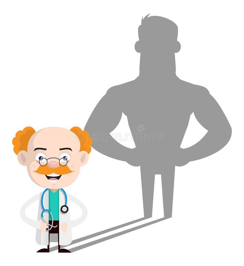 Médecin professionnel de la santé - Une attitude positive illustration stock
