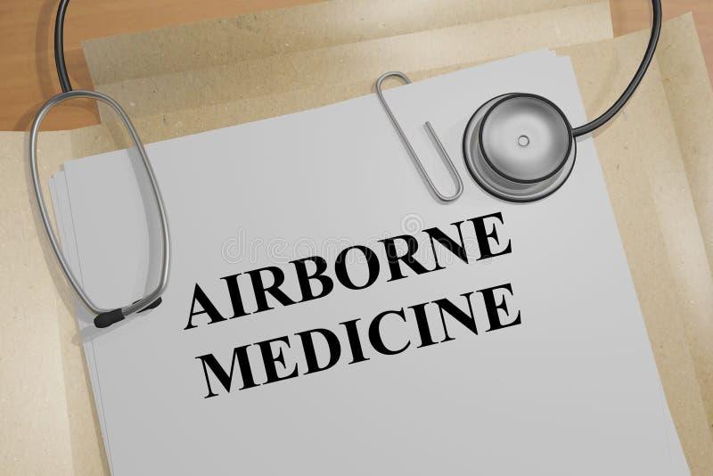 Médecine aéroportée - concept médical illustration libre de droits