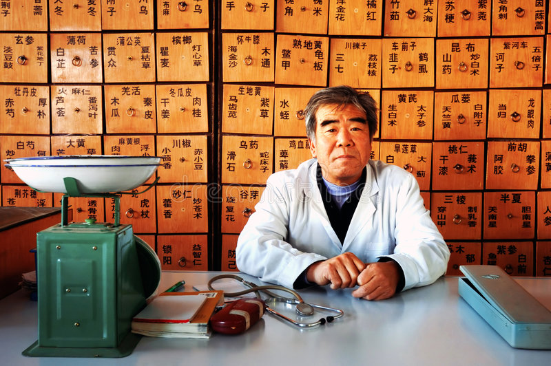 Médecine chinoise images stock
