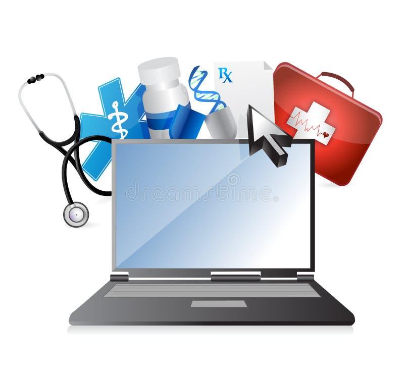 Médecine, concept médical de technologie illustration libre de droits