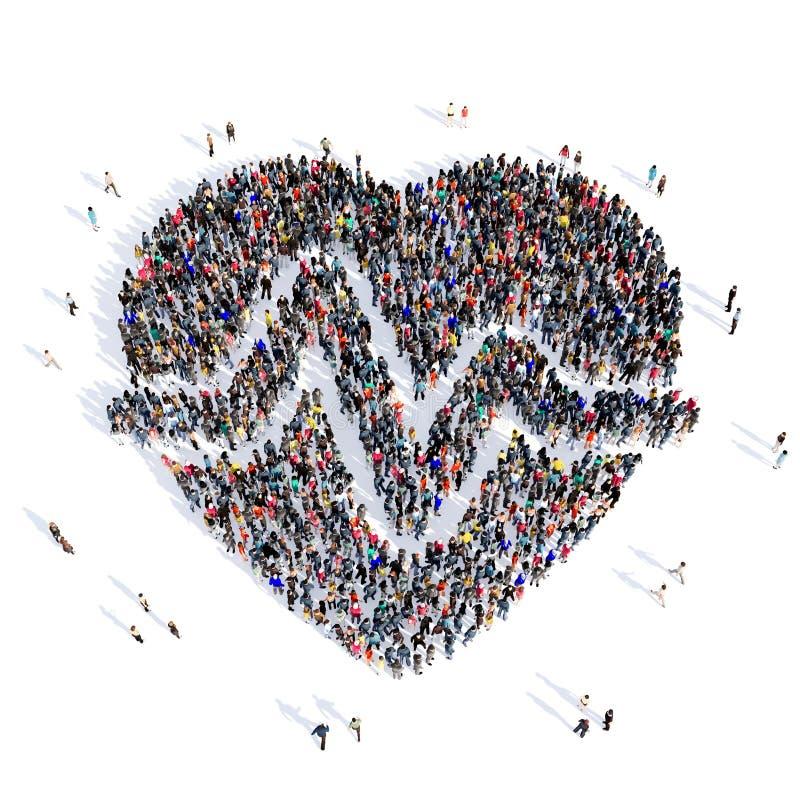 Médecine 3d de coeur de personnes cardio- images stock