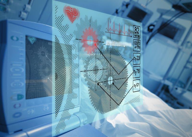 Médecine de portion de technologie images stock