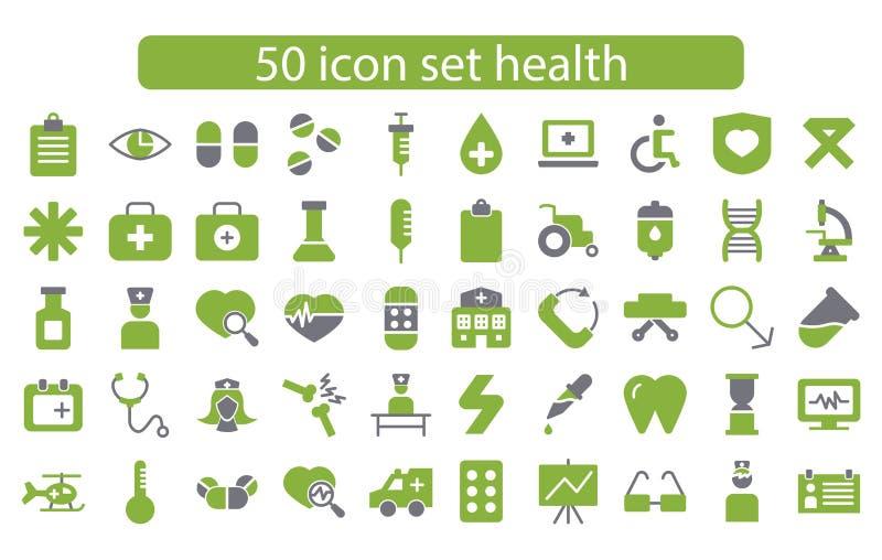 Médecine de scénographie d'icône et vecteur de santé photographie stock libre de droits
