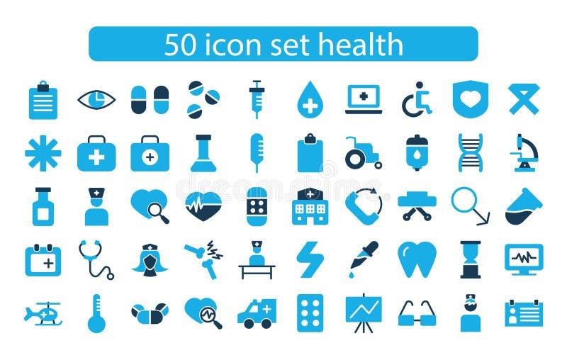 Médecine de scénographie d'icône et vecteur de santé photographie stock