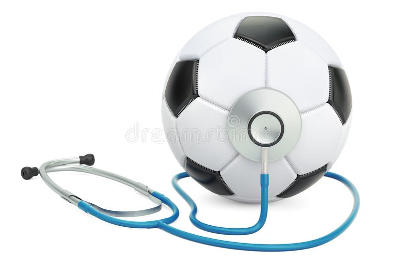Médecine de sports dans le concept du football rendu 3d illustration libre de droits
