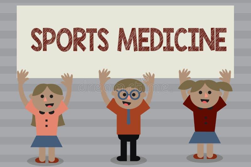 Médecine de sports des textes d'écriture de Word Le concept d'affaires pour le traitement et la prévention des blessures s'est ra illustration libre de droits