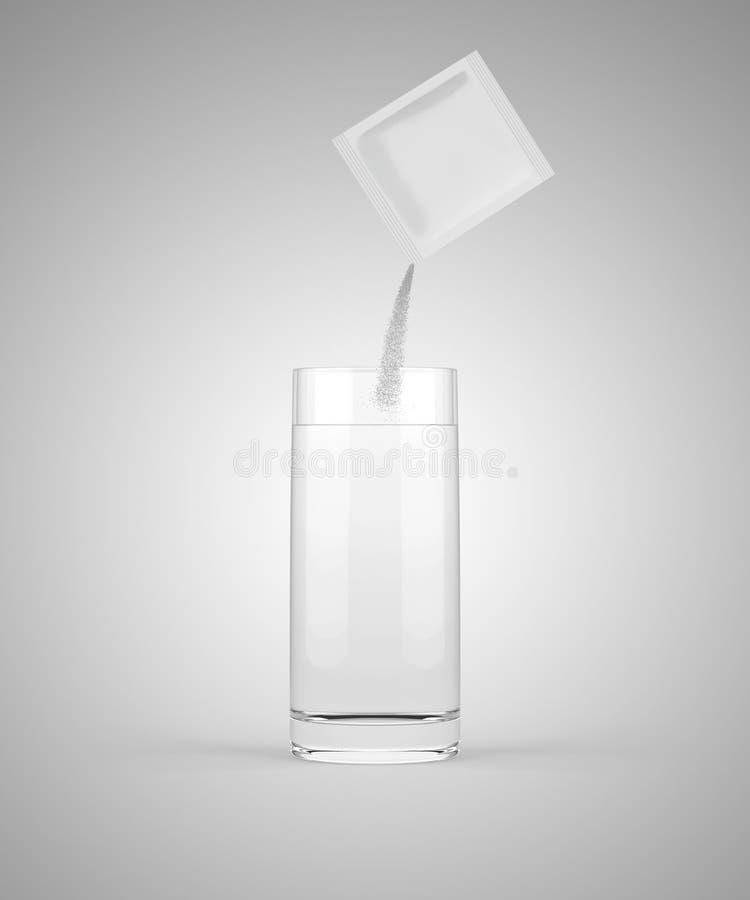 Médecine de versement dans le verre image libre de droits