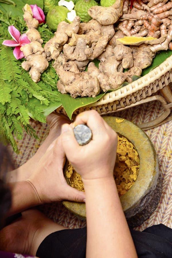 Médecine indienne Ayurveda, traitement de fines herbes 2019 images libres de droits