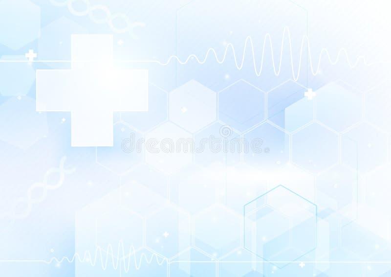 Médecines et concept de la science Fond futuriste abstrait illustration stock