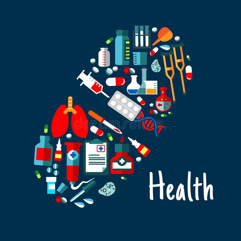 Download Médecines, Icônes Plates De Soins De Santé Dans La Forme De La Pilule Illustration de Vecteur - Illustration du dessin, concept: 76079615