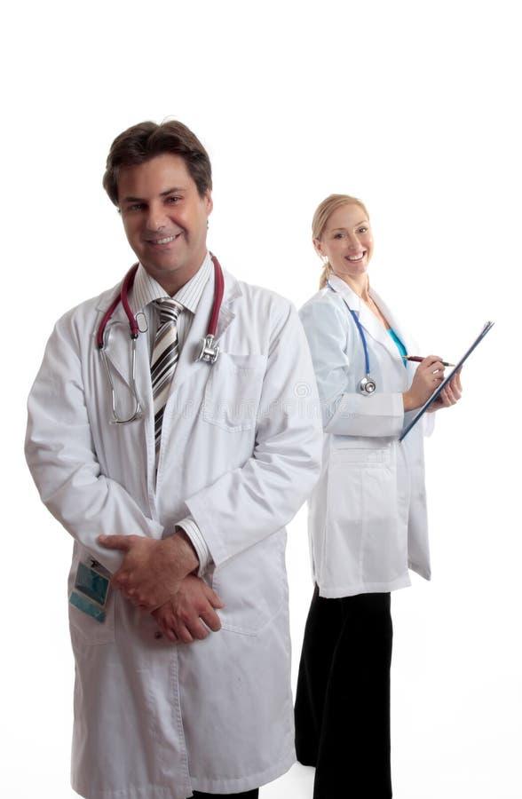 Médecins de soin ou professionnels médicaux image stock