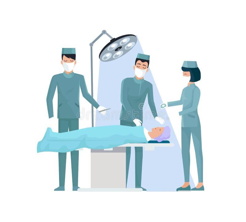 Médecins et illustration en fonction de vecteur d'infirmière illustration de vecteur