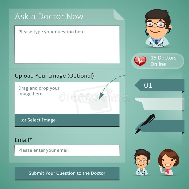 Médecins Online Consultation Form illustration stock