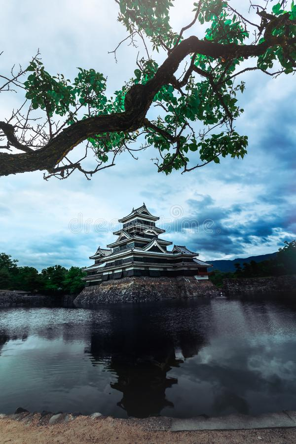 Médiéval de château de Matsumoto beau de l'âge samouraï dans le Honshu oriental, Nagano, Japon image stock