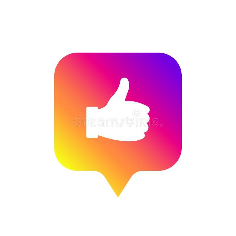 Médias sociaux modernes comme le signe, couleur de gradient Comme le bouton, icône, symbole, ui, appli, Web Illustration de vecte illustration libre de droits