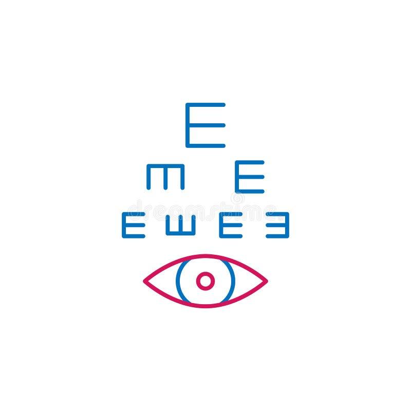 Médical, icône colorée par ophthalmologie Élément d'illustration de médecine Des signes et l'icône de symboles peuvent être emplo illustration de vecteur