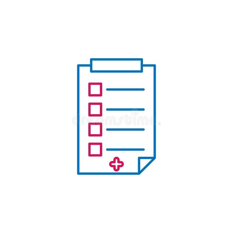 Médical, le rapport a coloré l'icône Élément d'illustration de médecine Des signes et l'icône de symboles peuvent être employés p illustration stock
