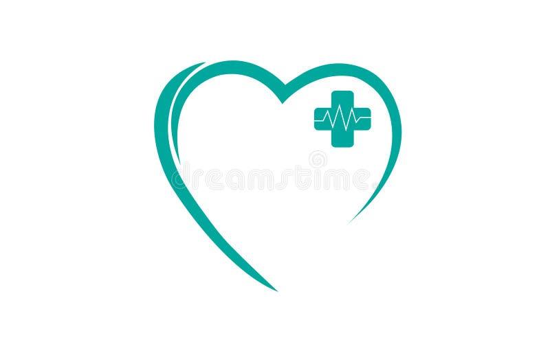 Médical plus des battements de coeur illustration libre de droits