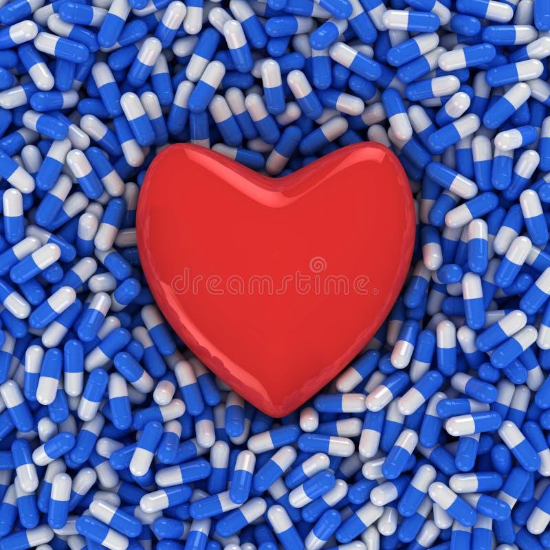 Médicament de maladie cardiaque illustration de vecteur