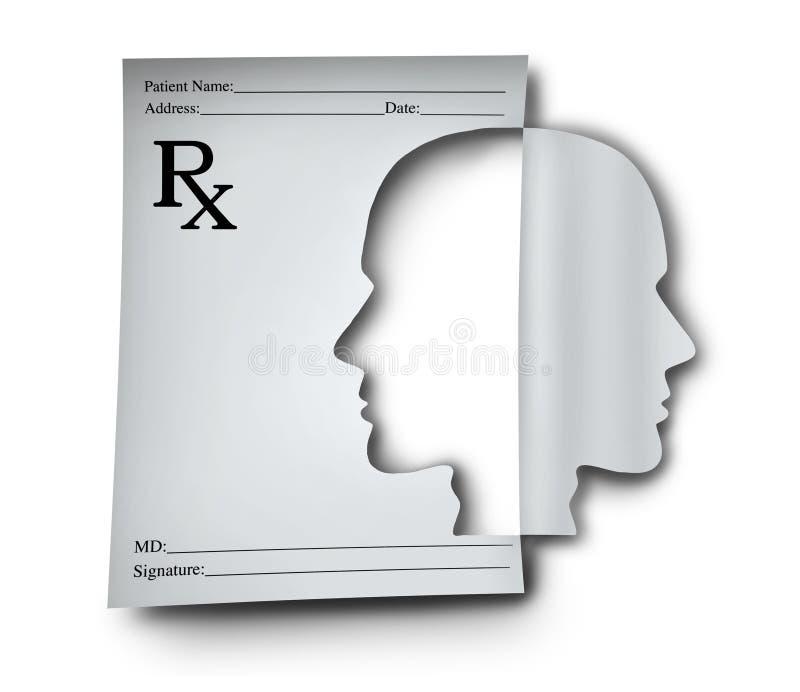 Médicament de santé mentale illustration stock