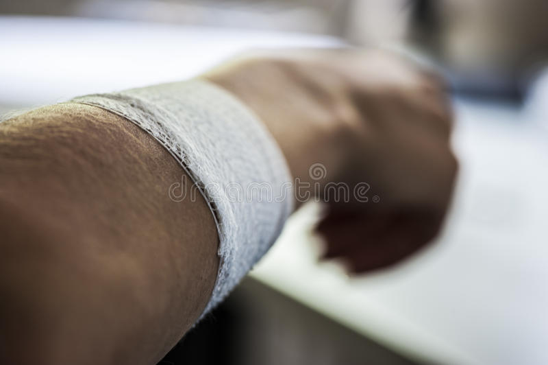Médicament et bandage image stock
