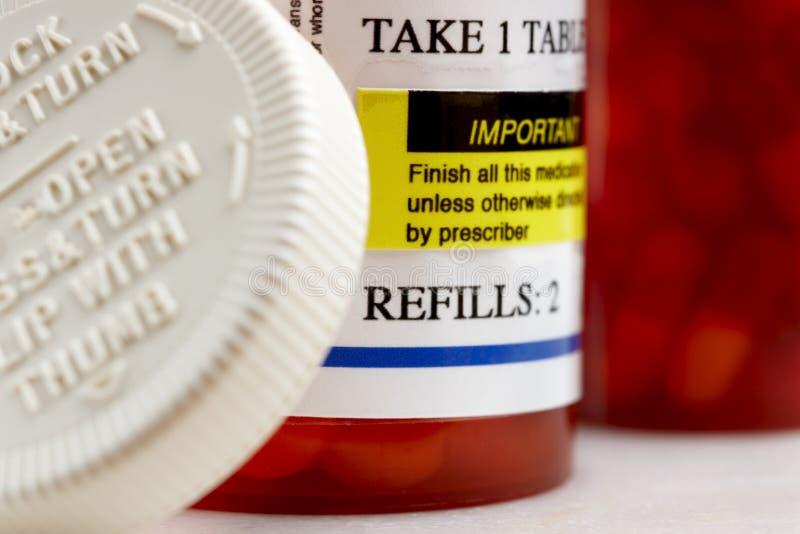 Médicaments délivrés sur ordonnance photos libres de droits