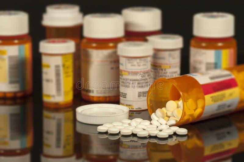 Médicaments délivrés sur ordonnance image libre de droits