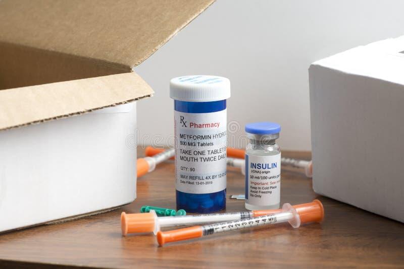 Médicaments diabétiques par commande postale image libre de droits