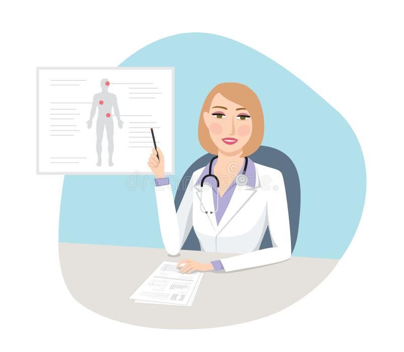Médico de sexo femenino - concepto médico fotos de archivo