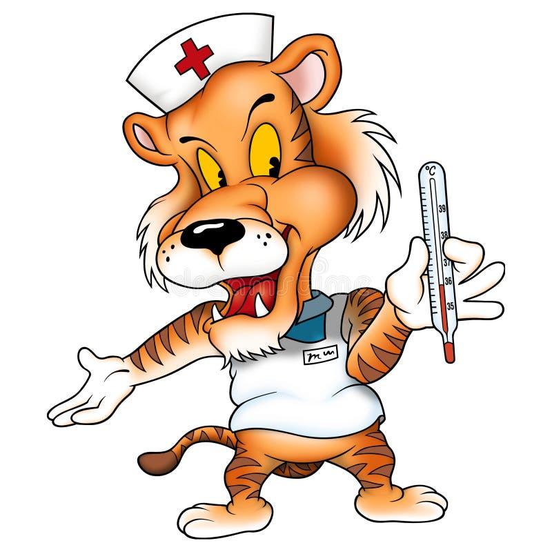 Médico del tigre stock de ilustración