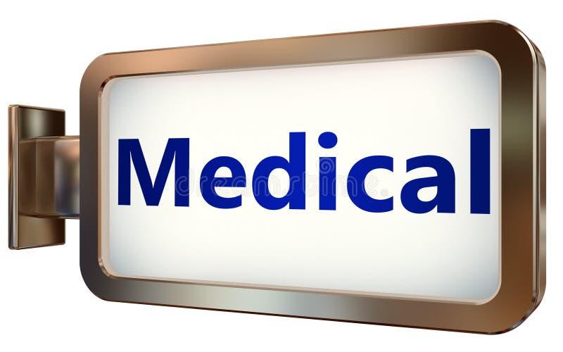 Médico en fondo de la cartelera libre illustration
