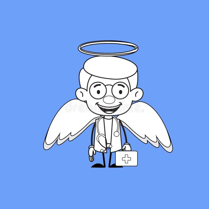 Médico ginecologista - em Angel Costume ilustração royalty free