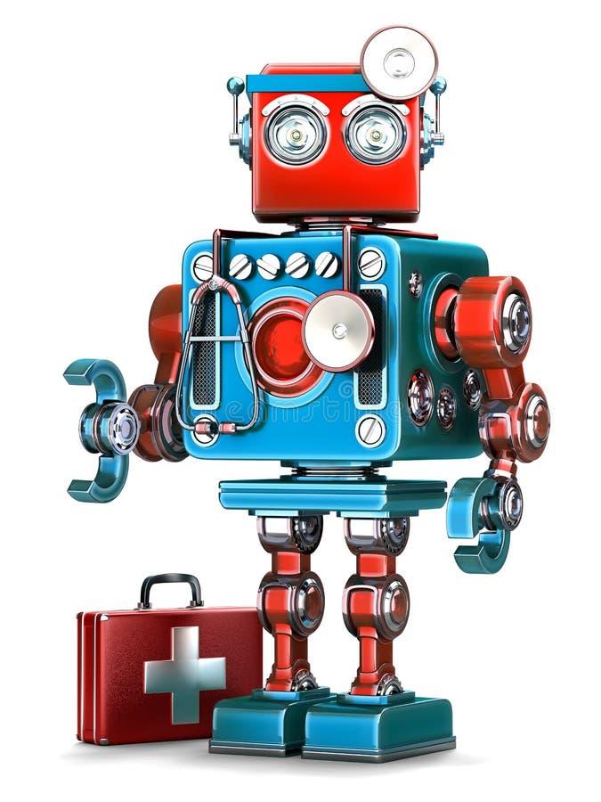 Médico Robot Concepto de la tecnología Contiene la trayectoria de recortes libre illustration