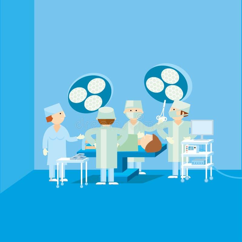 Médico simples da cirurgia ilustração stock