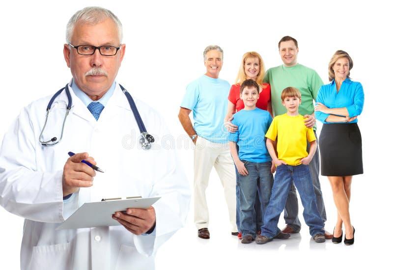 Médico y pacientes médicos de cabecera fotografía de archivo