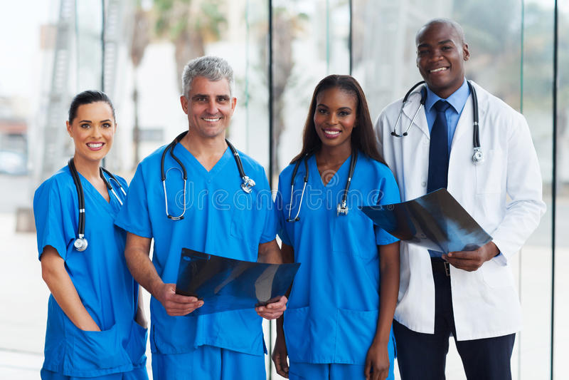 Médicos del grupo fotografía de archivo libre de regalías