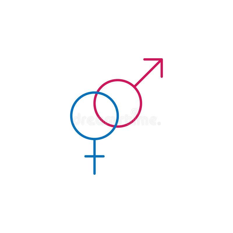 Médicos, os símbolos do gênero coloriram o ícone Elemento da ilustração da medicina Os sinais e o ícone dos símbolos podem ser us ilustração royalty free