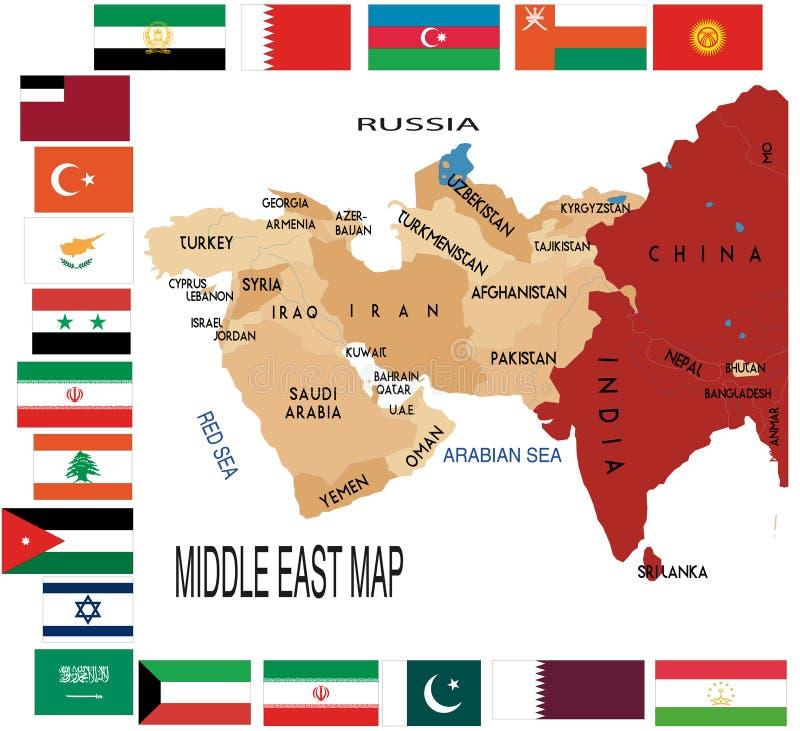 Médio Oriente ilustração royalty free