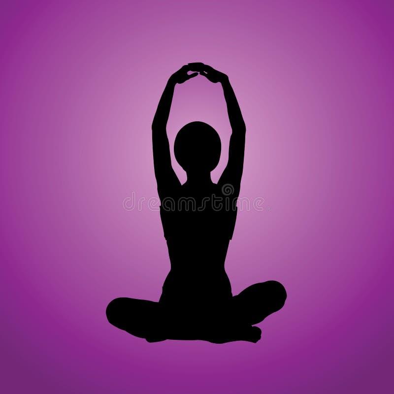 Méditation illustration de vecteur