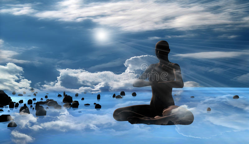 Méditation Photographie stock