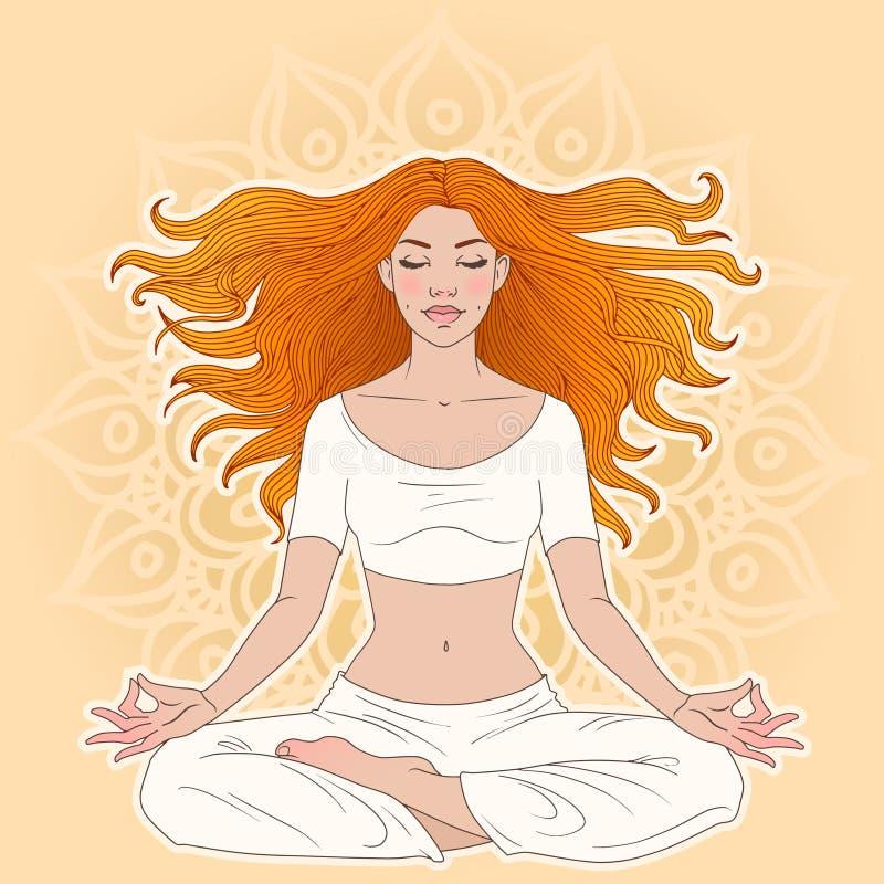 méditation illustration libre de droits