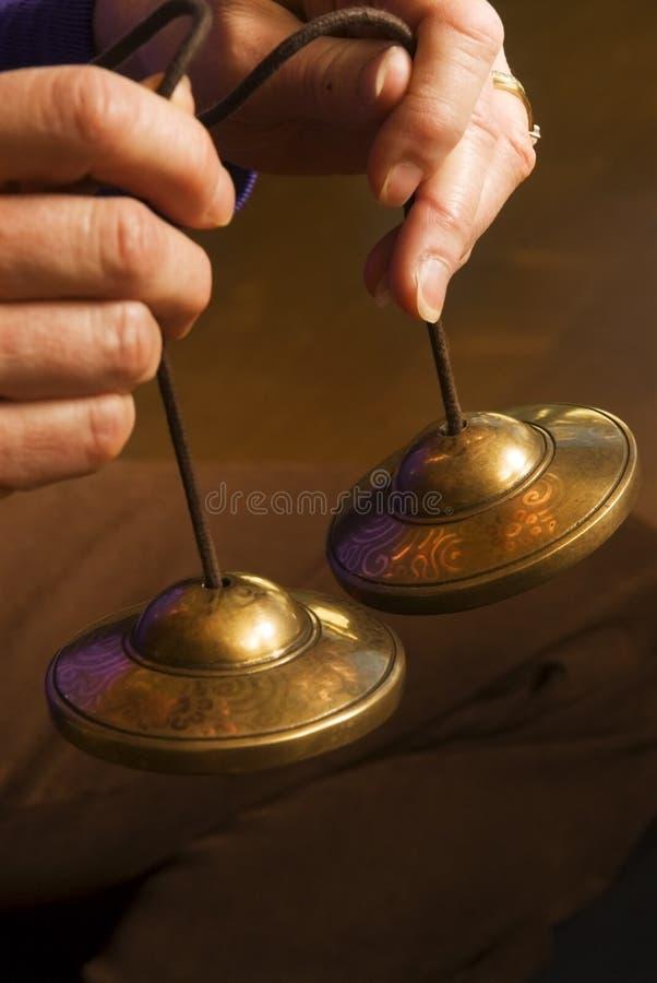Méditation Bells photographie stock