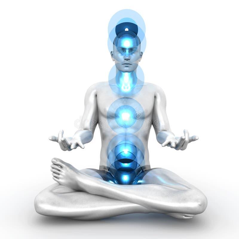 Méditation de Chakra illustration libre de droits