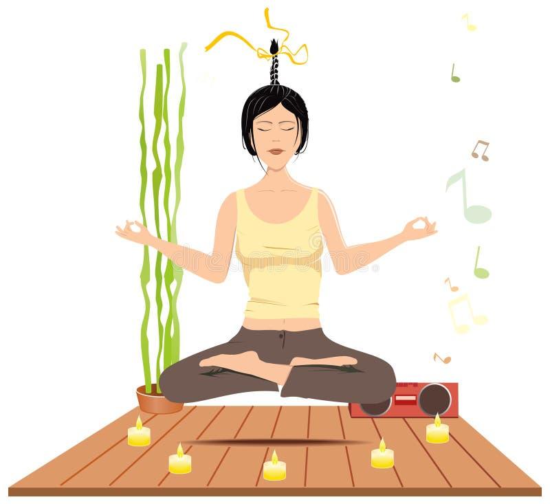 Méditation de femmes illustration stock