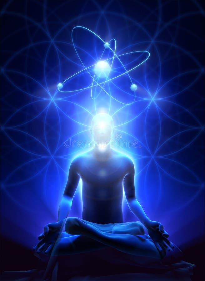 Méditation de l'homme illustration libre de droits