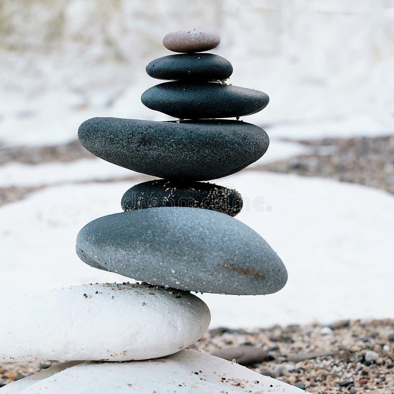 Méditation de zen à la côte est Angleterre de Flamborough Yorkshire image libre de droits