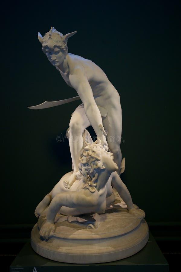 Méduse de meurtre de Perseus image libre de droits
