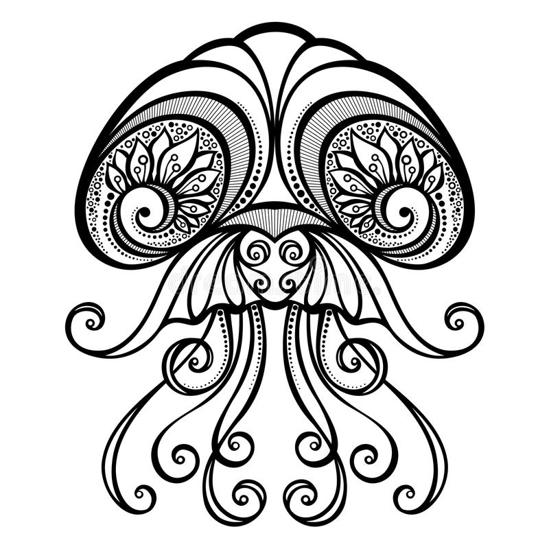 Méduses abstraites de mer de vecteur illustration libre de droits