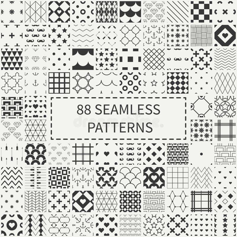 Méga réglé de l'universel 88 géométrique monochrome illustration stock